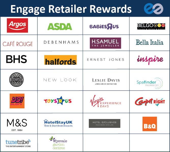 Engage rewards table