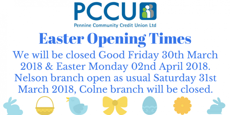 PCCU Easter Opening Times 2018