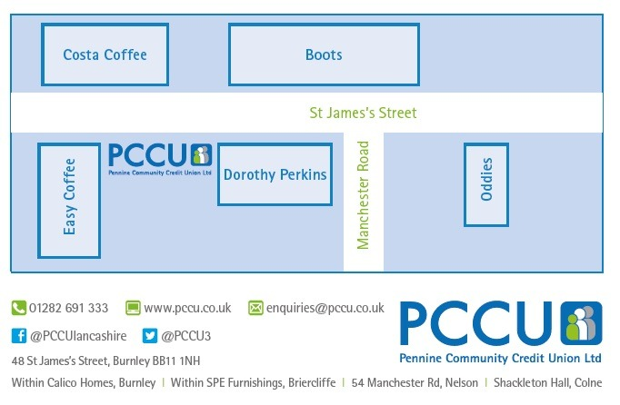 Burnley PCCU branch map