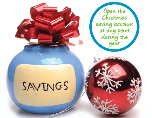 open a christmas savings account at PCCU