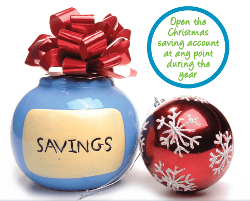 Christmas savings account now open