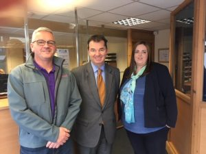 Mark Hirst, Guy Opperman and Debbie PCCU