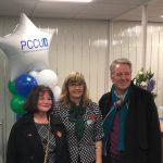 Julie Cooper MP, PCCU CEO Kathryn & leader council Mark Townsend