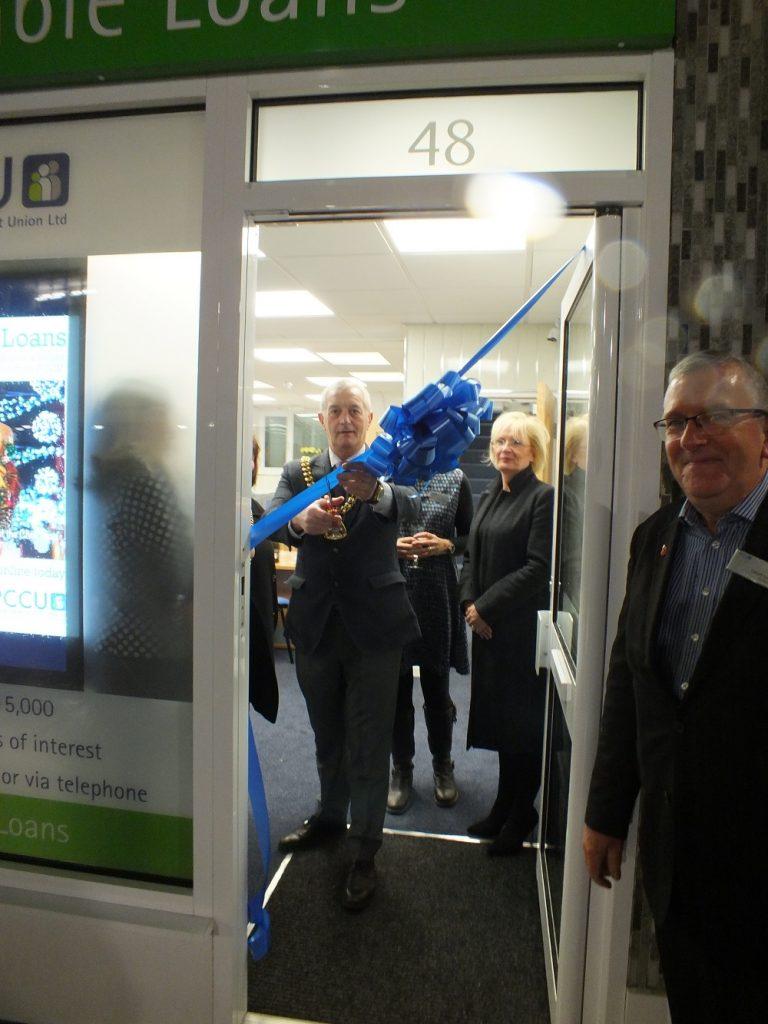 Mayor of Burnley opens new PCCU Burnley branch