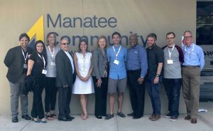 PCCU's David, Inclusiv staff & UK delegates visit Manatee CU in Florida