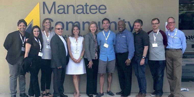 PCCU's David, Inclusiv staff & UK delegates visit Manatee CU in Florida