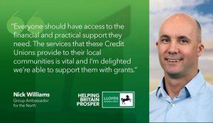 Nick Williams Lloyds PCCU £50,000 grant 2019 1