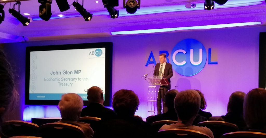 MP John Glen Economic Secretary to the Treasury praises credit unions