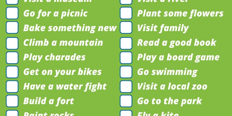 28 ideas for the summer holidays